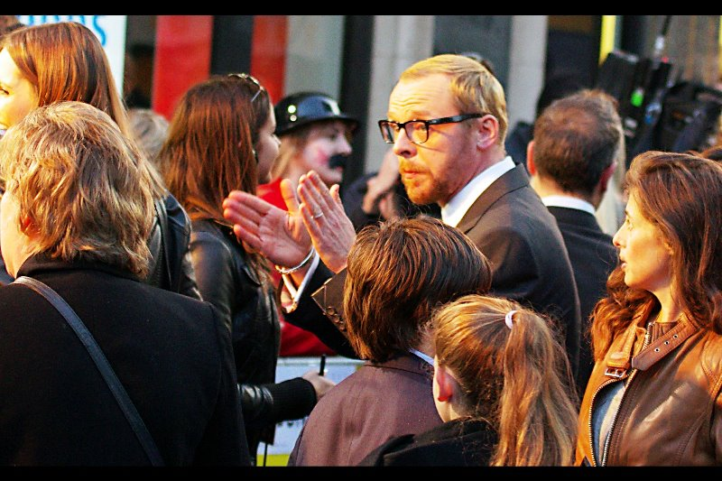 Simon Pegg : actor, author, sci-fi geek, cinema patron usher.