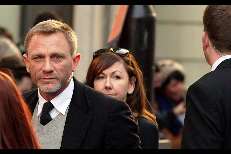 "Daniel Craig Staredown!! (at the  premiere of ""Tintin and the Secret of the Unicorn"""