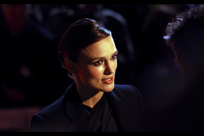 When the nerve on Keira Knightley's head starts throbbing, it's time to stop that line of questioning.
