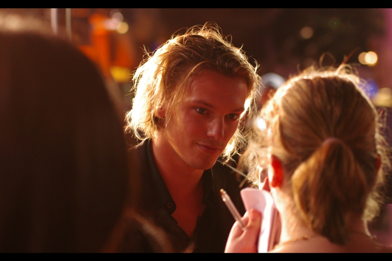 And finally, this is Jamie Campbell-Bower. Incredibly he's had roles in both 'Twilight' AND Harry Potter. But I'll be honest - surely they're pretty minor roles, otherwise the crowd volume and female concentration would have been fairly different to what we had.