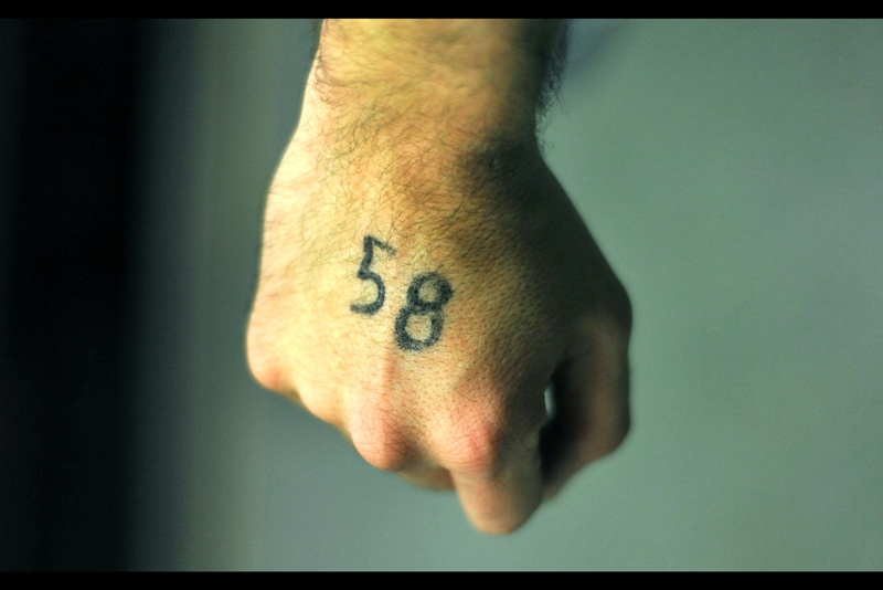 I had #58 on my hand. Was that good? It was hard to say...