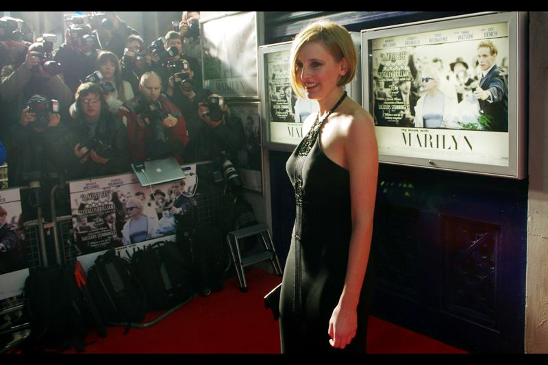 "Actress Laura Carmichael is also in Downton Abbey (which I still haven't watched), as well as  ""Tinker Taylor Soldier Spy""  (at which premiere I didn't see her). _Could we have another random Harry Potter connection please?_"