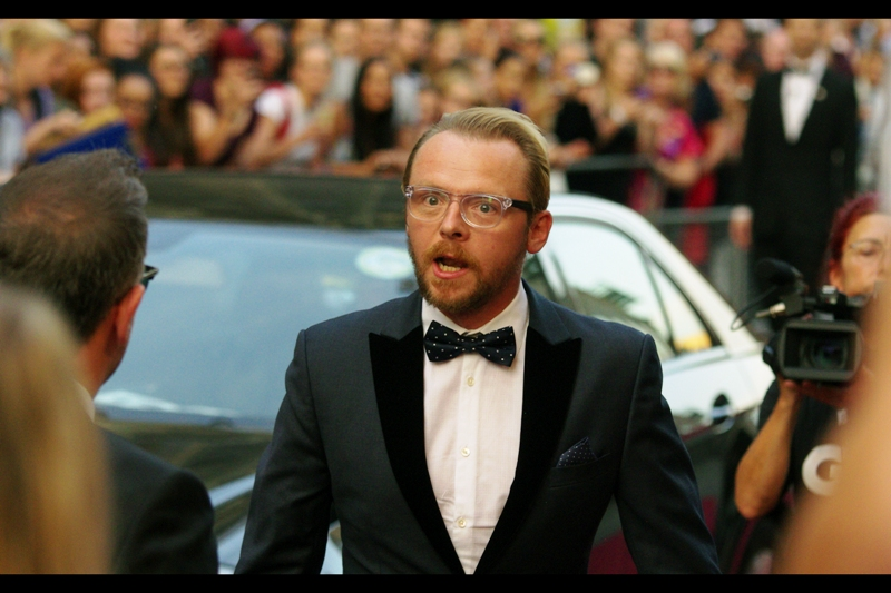 Simon Pegg ended up winning the *Comedians* award with Nick Frost and director Edgar Wright.