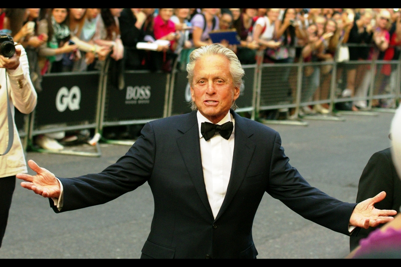 Michael Douglas, actor/triumphant.