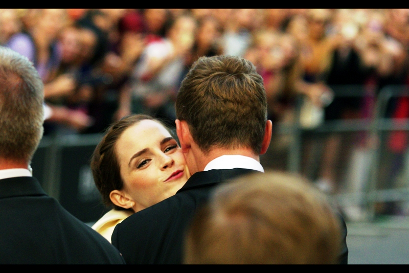 "Emma Watson, Actress / Kissing some dude. Last photographed at ""My Week With Marylin"" . She won the award for *Woman* at this year's ceremony which... wait... that's a category?"
