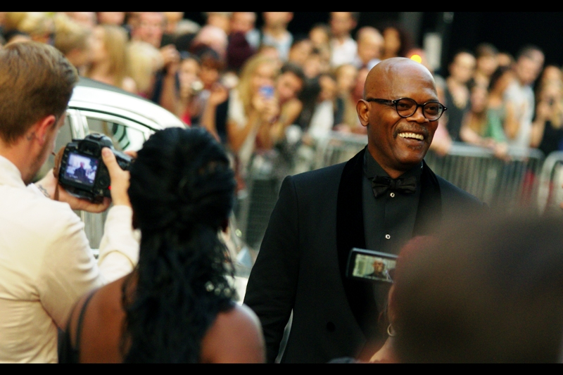 Samuel L Jackson, actor, cheerful.
