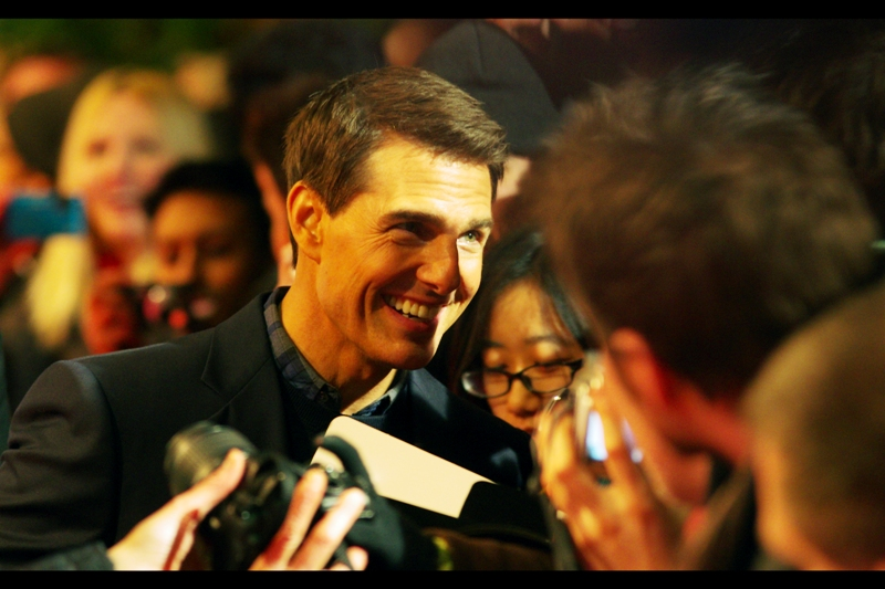 """You can be my wingman? Bull5hit, you can be mine? Am I right?"" ""Right"" Tom Cruise, lest it be forgotten, arrived at the event a *full hour* before anyone else from the film did, just to sign for absolutely not quite absolutely everyone."