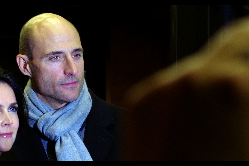 All the strawberry-blonde girls agree... if only they could get in on the ground floor with somebody who looked just like Mark Strong (if I looked more like Mark Strong), wore a scarf like Mark Strong (note to self : get a scarf like Mark Strong) and had a budding movie career like Mark Strong (and I could easily meet two of three of those criteria!!)