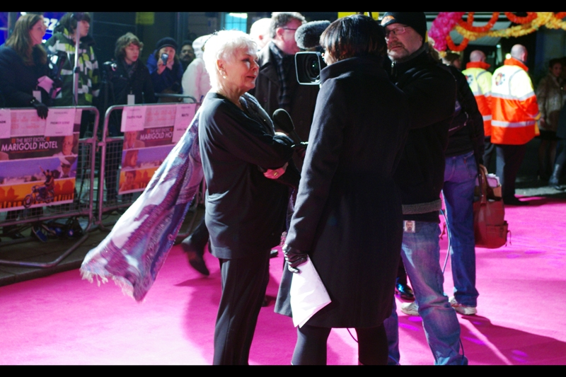 """Why, yes, I DO believe superheroes who resort to secret identities are cowards. Batman? Bah. Don't talk to me about that poser"". Wow. Judi Dench has attitude AND a cape."