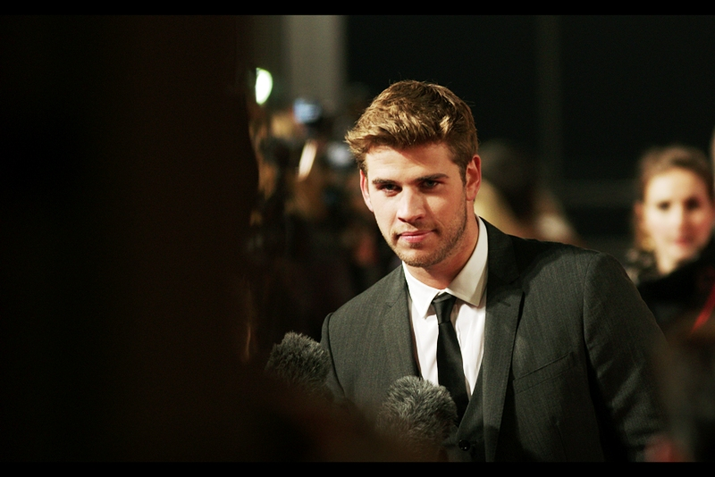 Liam Hemsworth plays 'Gale' in the film. I've temporarily forgotten which one of the two leads that is. I gotta reread the books, or failing that watch the movie... which I hear is coming out soon?