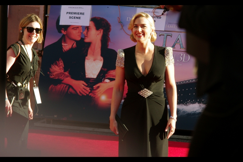 Kate Winslet, remarkably, never actually attended the original Official Premieres for 'Titanic' in New York and London in 1997. But she made it to this one (she and I have a _thing_. More on that later. Or less, as may be)