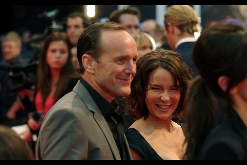 "Clark Gregg is apparently married to Jennifer Grey of ""Dirty Dancing"" fame?? (I was listening..)"