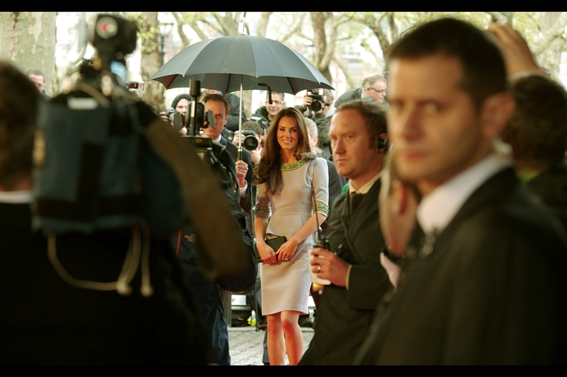 The reason why the entire paparazzi population of London is under a bridge in London has nothing to do with how awesome Cinematographers are (though they are), but rather because this is a Royal Premiere, and their Highnesses Kate and William showed up. I like this photo. Kind of a lot.