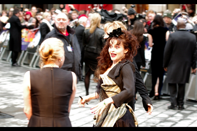 Helena Bonham Carter, though, I can forgive any number of bad movies she's been in, and the good news is I don't have to - she rocks them all. I last photographed her arriving late at the BAFTAs earlier this year.