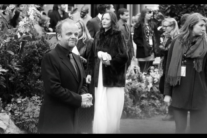 "Now that Charlize Theron and Kristen Stewart have moved out of camera range, suddenly I'm photographing _OTHER_ people who were in the movie and decided to come to the world premiere. Feels weird. This is Toby Jones, who was also in and at the premiere for ""The Hunger Games"""