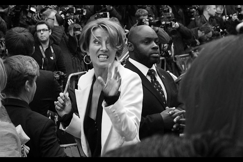 """Claw to the Face or Autograph. I'll give you guys a few minutes to decide""  Emma Thompson : also very, very cool."