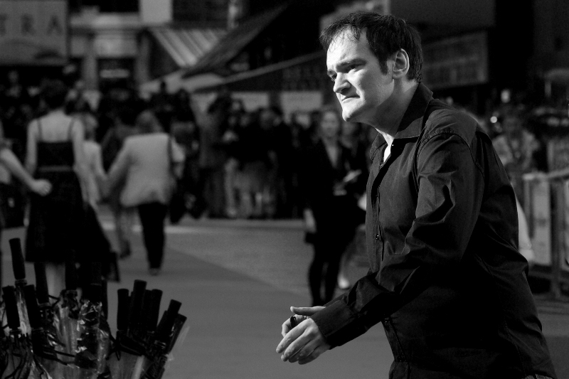 "I got to photograph director Quentin Tarantino at  the premiere of ""Inglourious Basterds"" !!"