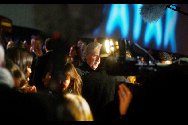 "I got to photograph director James Cameron at  the premiere of ""Avatar"" !!!"