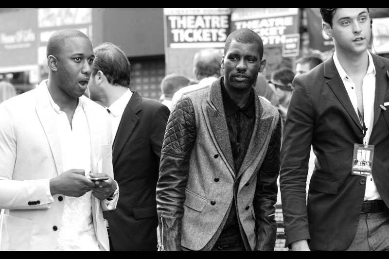Wretch 32 (centre) is a singer and I have actually heard of him. He's recently been interviewed by BBC Radio1 and he seems very, VERY cool. That said... he's not in this film.