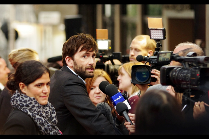 """Can't talk right now. Already said too much"" - David Tennant at  the premiere of ""What we did on our Holiday"""