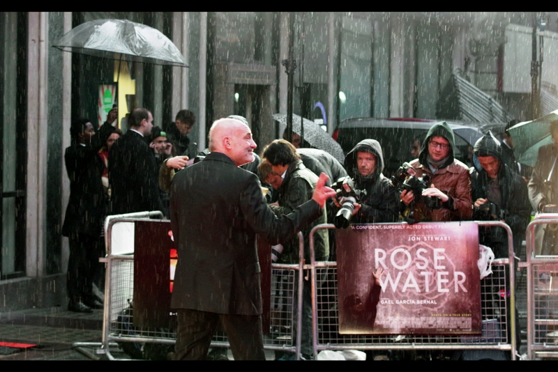 "Kim Bodnia is a Danish actor, and if it rains during the premiere of ""Rose Water"" then clearly there's something awesomely okay with that."