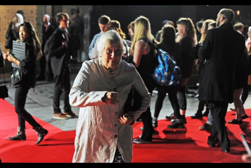 This is politician Shirley Williams, whose mother Vera Britain's Autobiography this movie is based on. It seems a bit weird to have a politician at something as trivial (or 'vital') as a movie premiere, but this is also The Lord Mayor's gala at the BFI London Film Festival, so we can look forward to at least one more politician tonight.