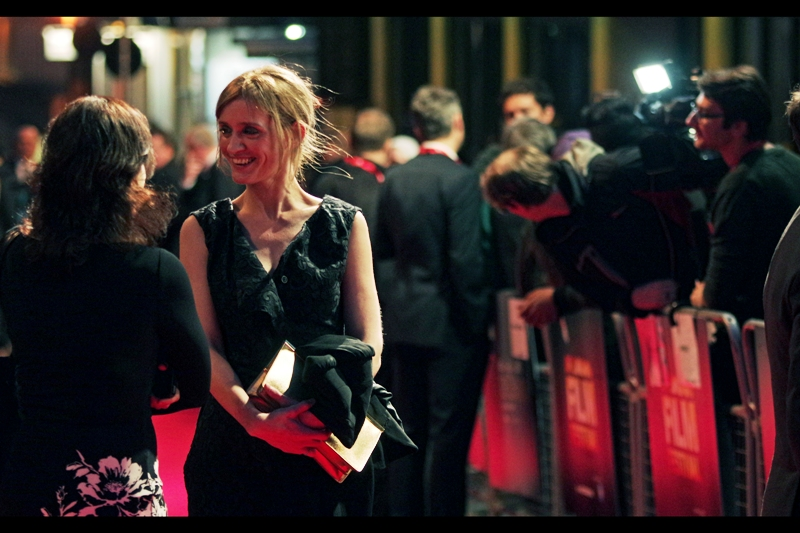 "James McAvoy's wife Anne-Marie Duff is also an actress, having won a Welsh BAFTA and nominated for 2 each of the British TV and Film Baftas. I can't see much to make light of - she seems very nice. I've previously photographed her at the premiere of ""Nowhere Boy"" back at the 2009 BFI London Film Festival."