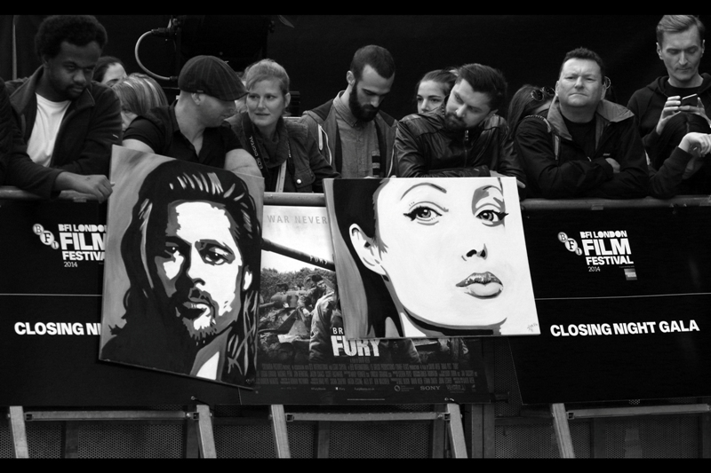 Wow. The person or people who owned these striking portraits with in a rather remote and late-opening public pen. Also, rumours were that Angelina Jolie would NOT be joining her husband on the red carpet this time.