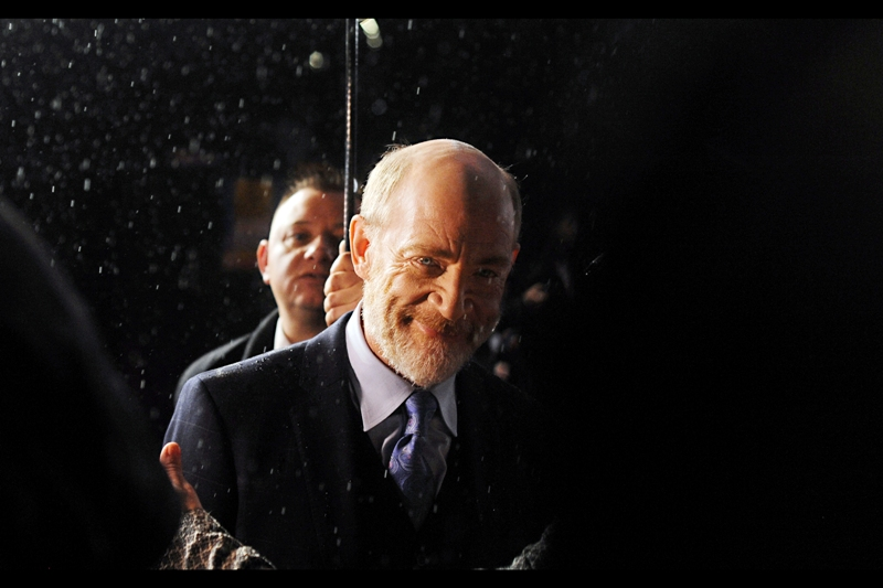 More and heavier rain, and JK Simmons glaring cheerily at the premiere of Whiplash