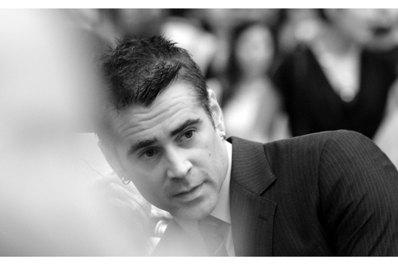Colin Farrell in close orbit. Try as I might, I can never get his flowing blonde locks in 'Alexander' out of my mind....