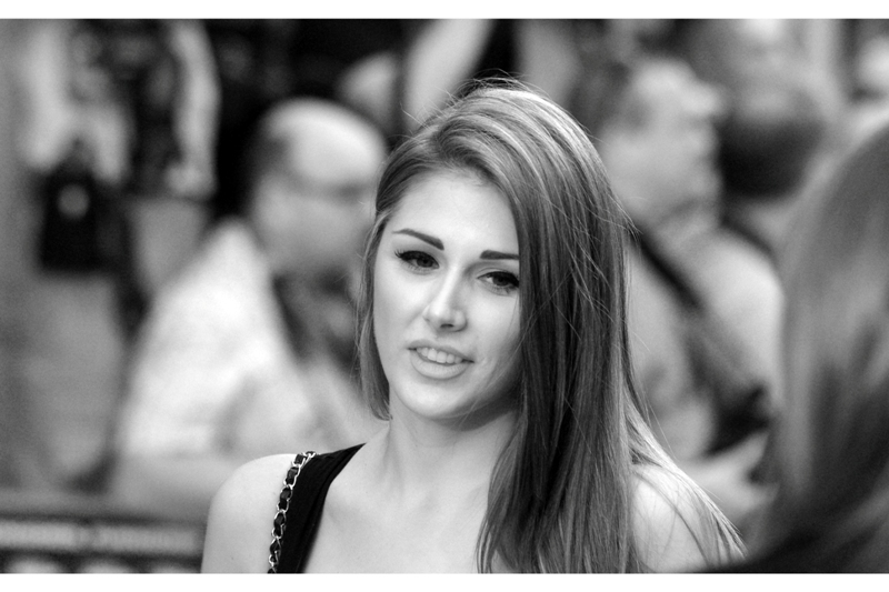 Since I've already lost all credibility in just being here, this is Lucy Pinder, seemingly a noted Page3 girl in the UK. In that regard, not only CAN SHE do better than be in this film, but arguably already HAS.. She didn't sign for fans. Seeing what they brought for her to sign, I'm not surprised.