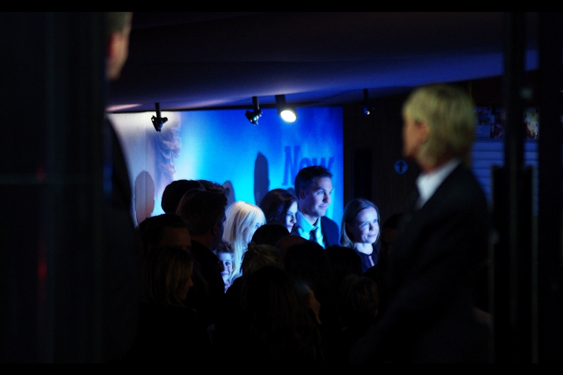 "In the distance, possibly the director and possibly actress Kaya Scodelario, who I photographed many years ago at the weird premiere of ""Tormented"" which unaccountably remains the most viewed movie premiere I've ever EVER posted."