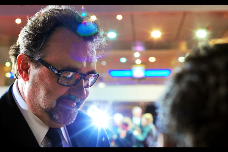 Don Hahn produced Frankenweenie, as well as many other films like Nightmare Before Christmas, Who Framed Roger Rabbit and The Lion King. (The lens flare in this photo had several cameos in the most recent JJ Abrams Star Trek film)