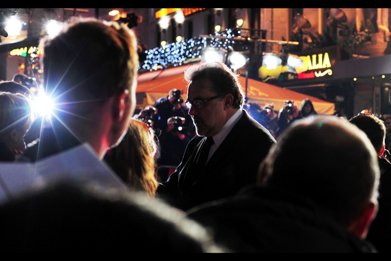 "I have been reliably informed that Don Hahn is ""the only producer for animated films to earn an academy award nomination for Best Picture"" (for Beauty & The Beast). I don't even know what the means, entirely. But starburst camera flashes are kind of My Thing, as has been demostrated before."