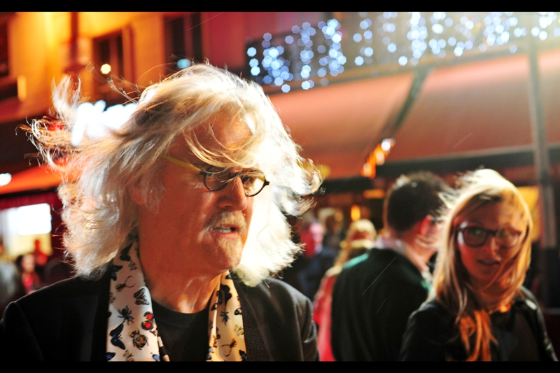 """You want me to do an Elle Fanning Hair Swish? Sure""  Billy Connolly is probably better known as a standup comedian, but I feel his choice of scarf design for premieres is what he really needs more acclaim for. And he seems to be a really nice guy!"
