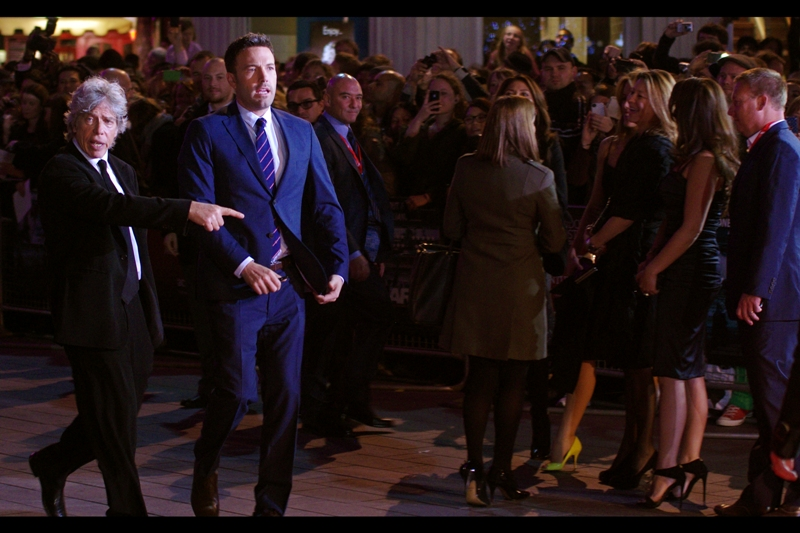 Ben Affleck arrives, but I am also oddly taken by the quirky grey-dude dude hanging around him like the Igor to a better looking Dr Frankenstein.