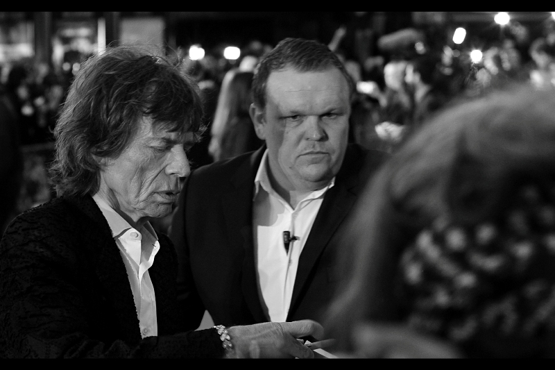 """Terry, sign this for me. My hand's shaking a bit""  It goes without saying that I'm getting to know a whole heap of autograph dealers in ways I'd rather not as they clamour physically to get closer to Mick Jagger. Must start plastering my jacket with glass shards and rat poison...."