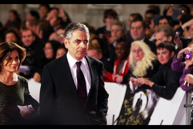 """If anyone mentions Johnny English movies, I'm gonna f**king die. But not before they do"". Rowan Atkinson attends."
