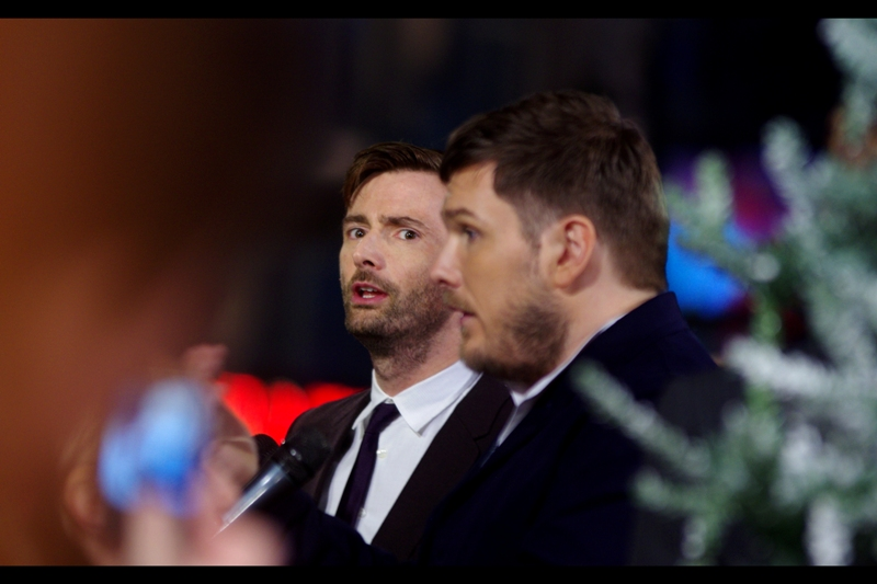 """Whatever he's saying, it's a lie. That I was awesome to work with and a true talent? Yeah... LIE"" David Tennant, behind Marc Wooton, of course, is best known for having been Dr Who. And also Barty Crouch in Harry Potter and the Goblet of Fire."