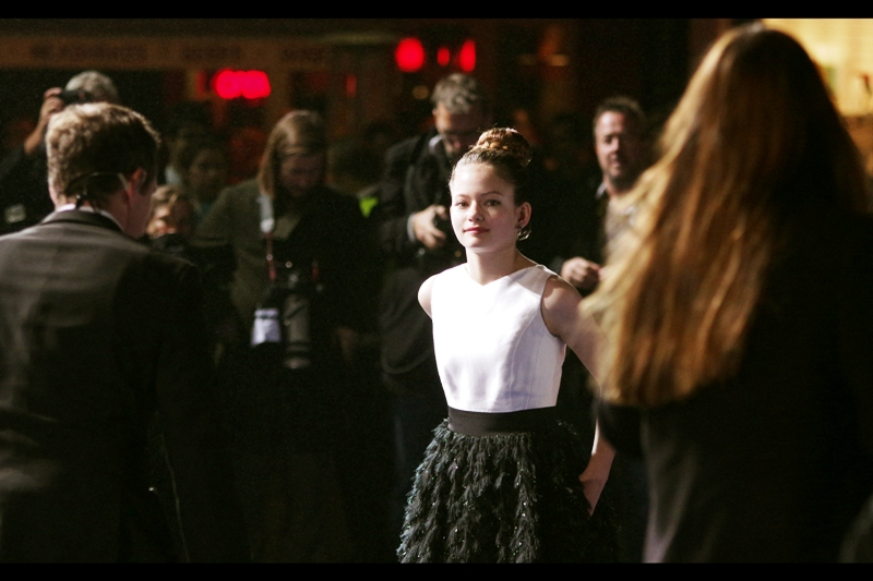Mackenzie Foy, you will of course know, played young Bella and Edward's human(ish) child in the final chapters of the by-now hopefully legendary TWILIGHT series of films.
