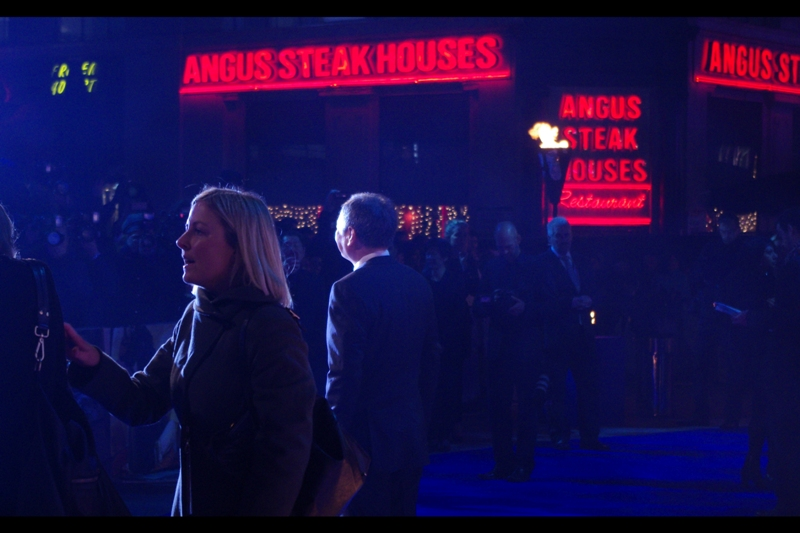 """ No, it's not a huge problem. But we're just worried that there aren't enough Angus Steak House signs for when Ang Lee gets here"".  Too late. He's here. No info on whether he likes steak."