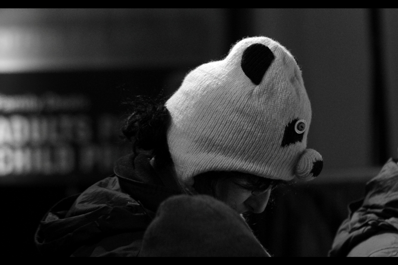So to summarise : having a Pentax K5 doesn't get you into the press pen by default, but wearing a PANDA HAT doesn't disqualify you? How does that work??