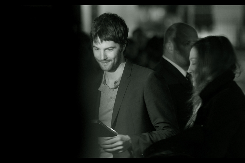 """That's sweet - you drew a picture of me with love hearts and everything. And you're how old? Forty-six! Well, thanks...""  I'm yet to see Jim Sturgess in any movie in his filmography, but I did photograph him at  the premiere of ""One Day"" - with Anne Hathaway"