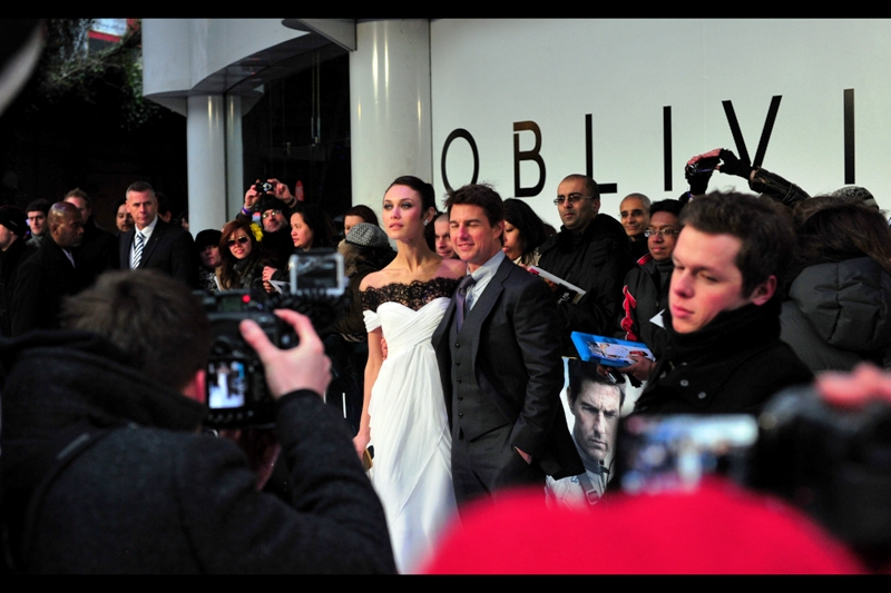 Oh, look! Actress Olga Kurylenko is slightly taller than Tom Cruise! (As a photographer in a public pen at premieres, I am somewhat obsessed with height, as no matter how much you have, it's typically still not enough)