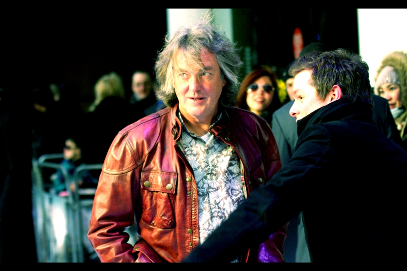 Random arrival with random hairstyle : Top Gear's James May! He doesn't like signing for fans, but I have a friend whose mojo is such that he can arrange such things. Either that or he has one hell of a Blackmail file, because it worked.