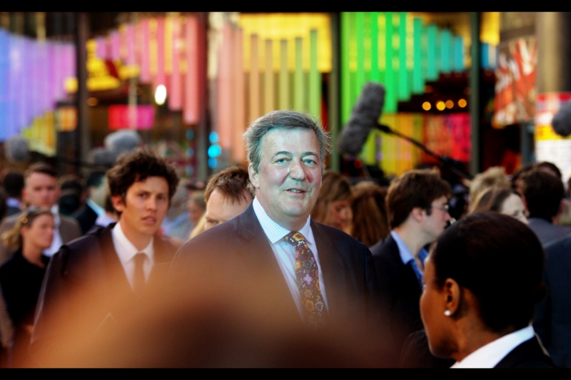 Stephen Fry lends Class to all premieres, even ones where Benedict Cumberbatch is anointing future popes and absolving sins. They have GOT to get him out next week for Fast & Furious 6. (Fry, not Cumberbatch). (Or either, really) (Actually, I won't be in town for that one... so i don't fundamentally care)