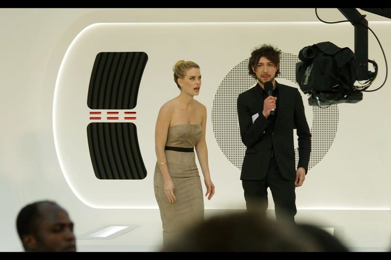 "Alice Eve : ""Wait...  did you just use the third past participle to ask me how I'd ask YOU out if I were *YOU*??"" Alex Zane : ""Maybe I did. And...?"""