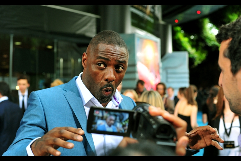 """I'm about to lift this barrier with my MIND. And if that doesn't work, it's only because the effects budget went on all the giant robots..."" Idris Elba has been in several movies I've watched, including Prometheus, where he slept with Charlize Theron. That is all."