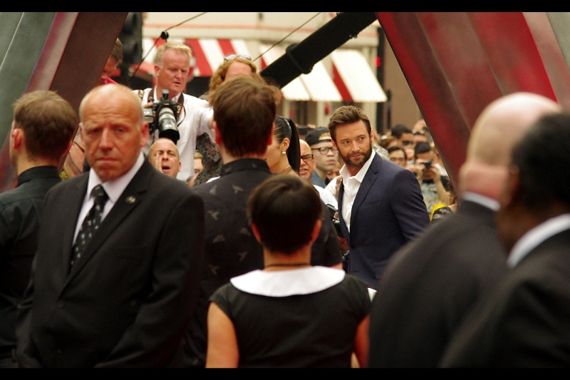 The man, the myth, the sideburns, the incredible three-word cameo in 'XMen First Class' - it's HUGH JACKMAN!!