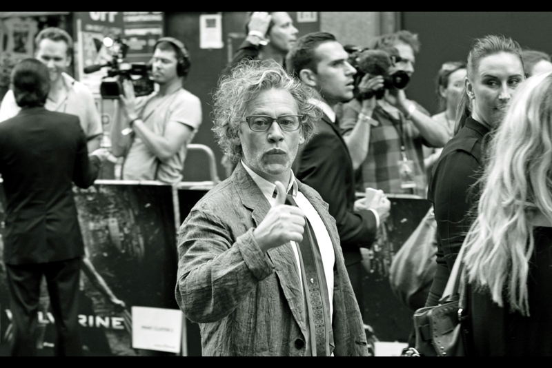 Meanwhile, in excellent news for fans of scraggly grey hair, Director Dexter Fletcher is getting invites to and attending premieres to movies he's not connected with again!!